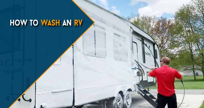how to wash an rv