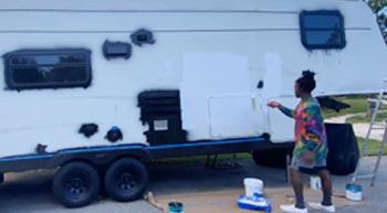 Quantity of implement paint